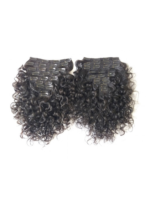 Curly Clip in Human Hair Extensions