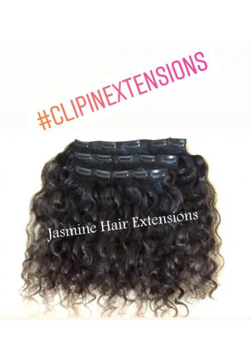 NAtural Curly Clip In Hair Extensions