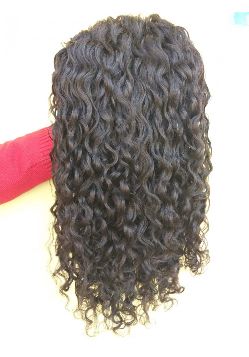 Cuticle Aligned High Density Unprocessed Deep Curly full lace wig