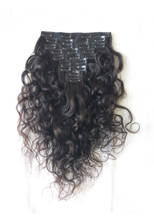 100% Unprocessed Curly Clip in Hair Extensions