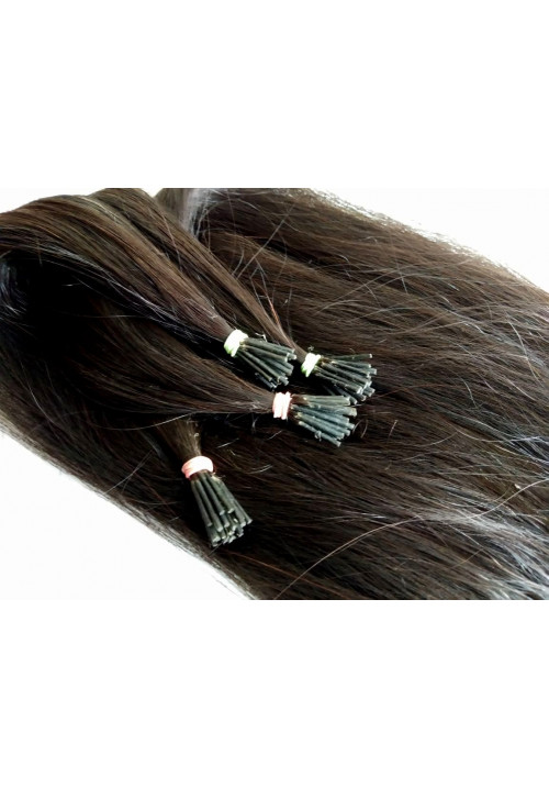 Natural Straight I -Tip Human Hair Extensions
