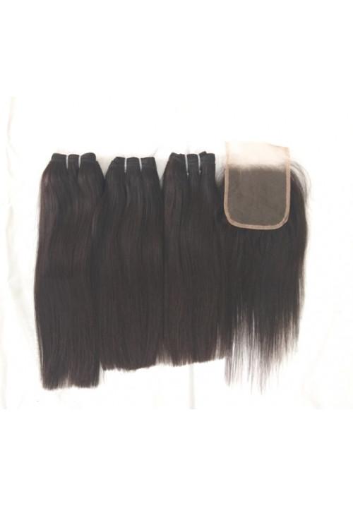 100% Natural Straight Human Hair Extensions