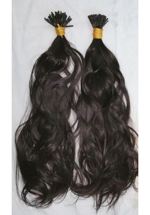 100% Human Hair  I-tip Hair Wholesale Extension