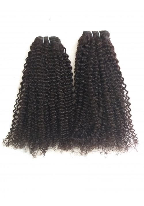 Curly virgin Brazilian hair weave, Remy hair extension