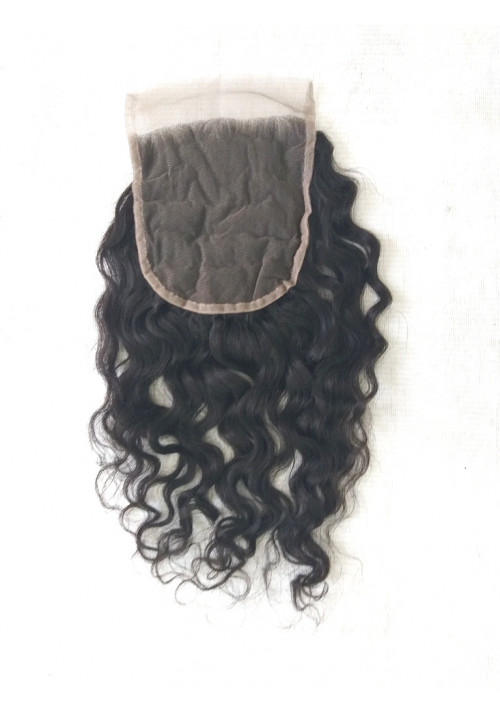 Natural Unprocessed Curly Lace Closure 4x4