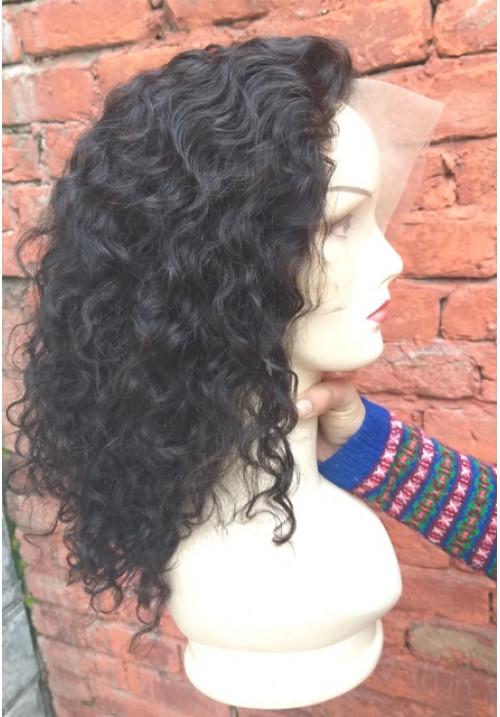 100% HUMAN HAIR FULL LACE WIG,  CURLY HUMAN HAIR