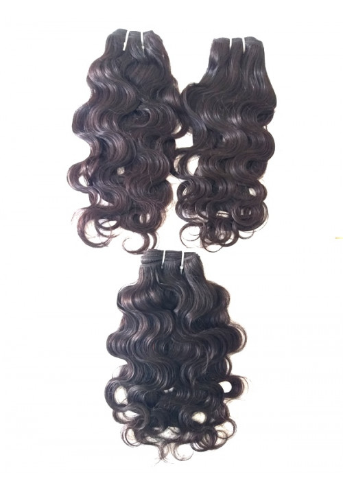 Raw Unprocessed Wavy Human Hair Extensions