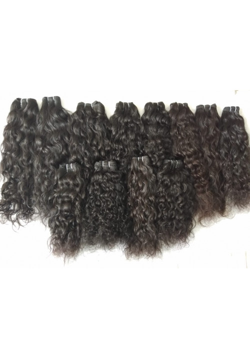 100% Human Hair Extensions Natural Color Natural curly Hair