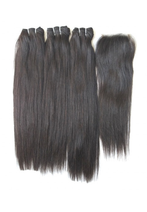100% Natural Straight Human Hair Extensions
