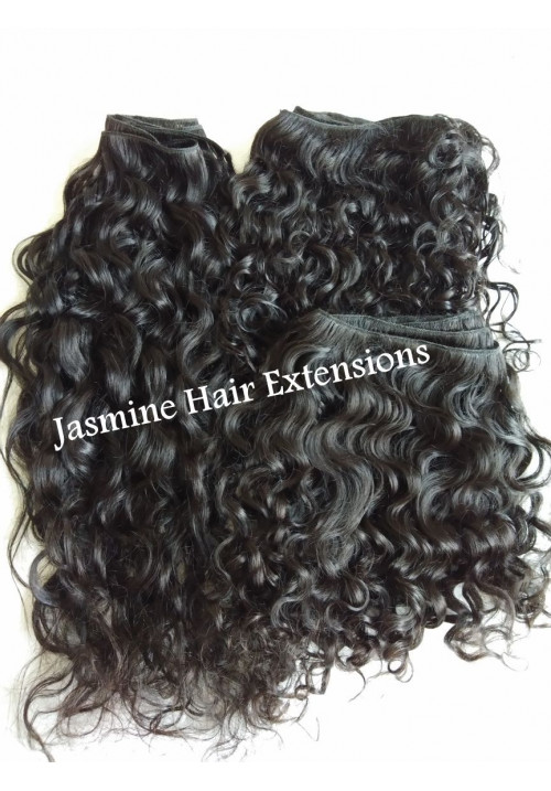 Indian Natural curly hair,Unprocessed curly Indian human Curly Hair Weft