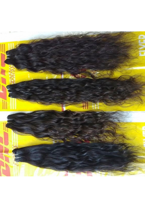 100% virgin human hair top quality Unprocessed Curly Human Hair
