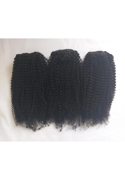 Afro Steamed Kinky Curly Hair, 100% Human Hair Extensions