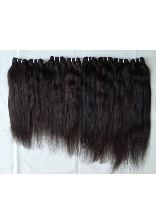 Natural straight hair, No tangle human straight hair extension, good quality
