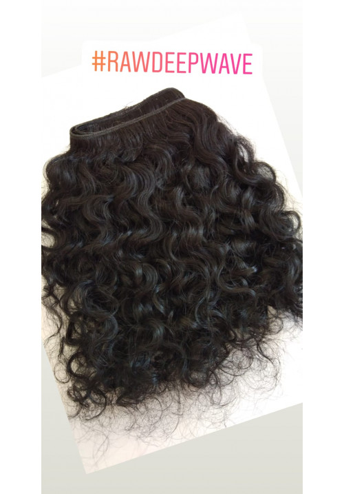 Raw Unprocessed Deep Wavy Human Hair
