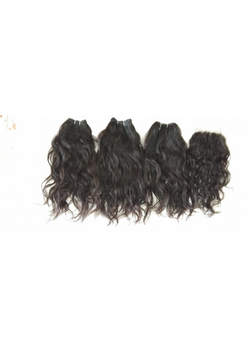 100 Percent Indian Remy Human Hair,100% raw hair Wavy Hair