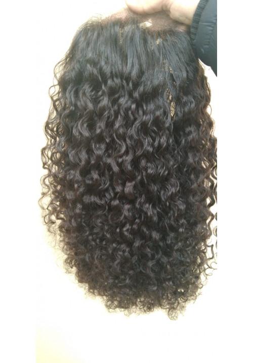 100% Human Hair Full Lace Wig ,deep Curly human hair
