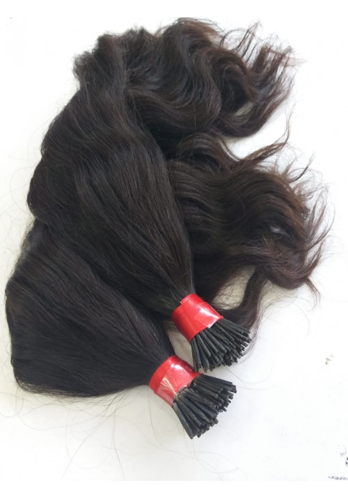 Natural Straight I tip Hair Extension